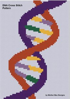 Looking for your next project? You're going to love DNA Cross Stitch Pattern  by designer Motherbeedesigns. - via @Craftsy