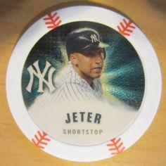 DEREK JETER GOLD 2013 CHIPZ BASEBALL MLB POKER CHIP NEW YORK YANKEES