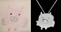 Two Artist Moms Are Turning Children's Doodles Into Unique Silver Jewellery | Bored Panda