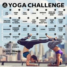 Our 30-Day #YogaChallenge will tighten your core, create flexibility, and build strength in just one pose a day!