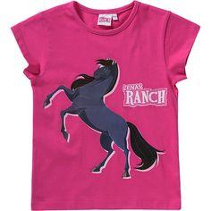 Für Pferdefreundinnen: das LENAS RANCH T-Shirt für Mädchen liegt dank Baumwolljersey-Qualität angenehm auf der Haut und begeistert mit eindrucksvollem Pferde-Print auf der Front.<br /> <br /> - gerade geschnitten<br /> - Rundhalsausschnitt<br /> <br /> Material: 100% Baumwolle<br /> <br /> --- Pflegehinweise ---<br /> - Maschinenwäsche bei 30°C, von links<br /> - nicht bleichen<br /> - nicht heiß bügeln (110 °C), Vorsicht beim Bügeln mit Dampf<br /> - nicht trockenreinigen<br /> - nicht für…