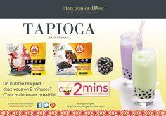 Siroter tranquillement un Bubble tea tout frais sur votre canapé, devant un film ou votre série du moment, ça vous dis ?  2 minutes suffisent pour la préparation de tapioca !   Maintenant disponible en ligne et dans notre boutique à Opéra !