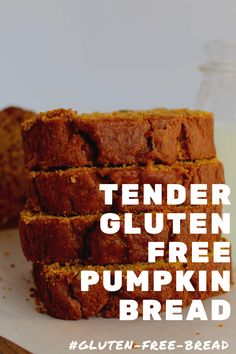 Mouthwatering Gluten Free Pumpkin Bread that's bursting with spices and yet so easy to make, you'll have everyone asking for the recipe! Delicious gluten free pumpkin bread that's perfectly spiced and stays moist for days! Gluten Free Pumpkin Bread, Gluten Free Flour, Gluten Free Cooking, Dairy Free, Vegan Pumpkin, Gluten Free Baking Recipes, Patisserie Sans Gluten, Dessert Sans Gluten, Bon Dessert