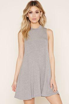 Mock Neck A-Line Dress   Forever 21 - 2000205758