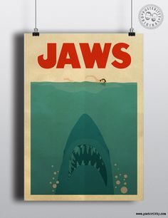 Jaws - Minimal Movie Poster by Posteritty #PosterittyStyle #MinimalMoviePosters #PosterArt #MinimalArtwork #Jaws #JawsPoster #Shark