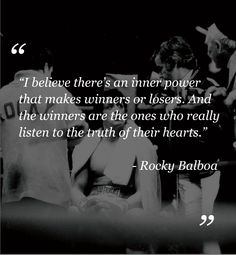 Being a true winner means listening to your heart!