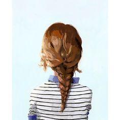 8x10 hair art  braid print  Braid 8 giclee por ElizabethMayville, $20.00