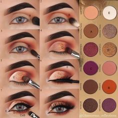 10 mini makeup tutorials from to learn and do . - 10 mini makeup tutorials from to learn and do now! – I focused Imágenes ef - Makeup Eye Looks, Eye Makeup Steps, Makeup For Brown Eyes, Mini Makeup, Makeup Case, Eyeshadow Makeup, Makeup Brushes, Eyeshadow Palette, Gold Eyeshadow