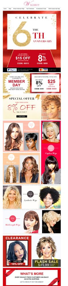 ❤ Celebrate Wigsbuy Sixth Anniversary Carnival #wigs #lacefrontal #extentions
