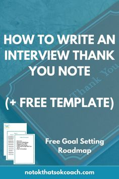 How to Write an Interview Thank You Note that will impress a potential employer!  (+ Free Template)  Click to view and pin for later