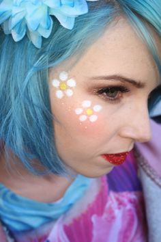 Jax Glam Beauty Face & Body Art Daisy Eye Design
