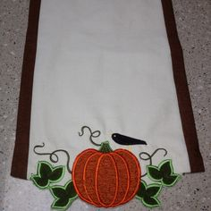 Embroidered Fall Table Runner