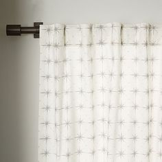 Cotton Canvas Nova Curtain | west elm $49