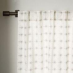Cotton Canvas Nova Curtain   west elm $49