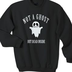 Not a Ghost Halloween Sweatshirt Black * Fabric : 100% preshrunk cotton * Available Color : Black and White * Size : Small, Medium, Large, X-Large, XX-Large * Professionally designed & printed #clothing #apparel #sweatshirt #Halloween #HalloweenApparel #HalloweenSweatshirt