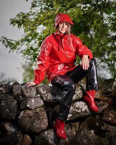 Vinyl Dress, Vinyl Clothing, Country Wear, Rain Suit, Pvc Raincoat, Rain Gear, Black Nylons, Bronze, Rain Boots