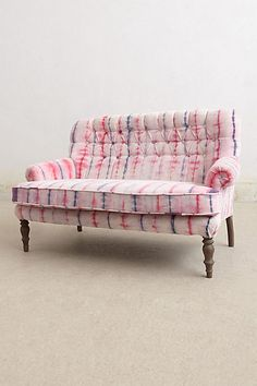 Hand-Dyed Velvet Settee #anthropologie