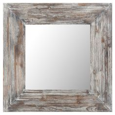 Wall mirror with a warmly weathered finish.   Product: Wall mirrorConstruction Material: Wood and mirrored glass