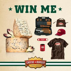 Pin-to-WIN! During the entry period of July 28 – August 31, 2014 you have a chance to win a Cheese and Burger Grilling Kit – an 18-piece stainless steel barbecue set, $50 of Wisconsin Cheese and official Cheese  Burger Society swag! Visit our Pin-to-Win Board for details: http://www.pinterest.com/wisconsincheese/the-cheese-burger-societys-pin-to-win/