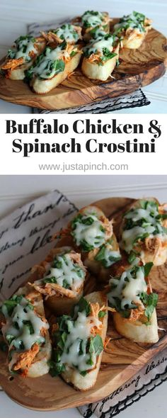 This is one kickin' appetizer! The hot sauce adds quite a bit of heat, but the spinach and cheese cool things down a bit. These are fancy enough for a cocktail party but would be yummy for gameday too.