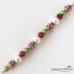 Santa's Sleigh Bead Strand from Jesse James Beads