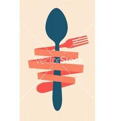 Vintage restaurant menu retro poster vector - by file404 on VectorStock®
