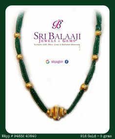 Beads Necklace with Gold sbjagblr