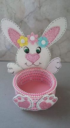 Easter Crafts Crafts For Kids Easter Baskets Hello Kitty Craft Projects Easter Bunny Event Decor Recycled Crafts Sewing Rooms Diy Crafts Hacks, Foam Crafts, Diy Home Crafts, Crafts For Kids, Arts And Crafts, Bunny Crafts, Easter Crafts, Easter Gift, Easter Bunny
