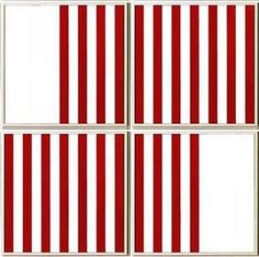 Daniel Buren, 'The Missing Square (4 Panels),' 1989, Collectors Contemporary