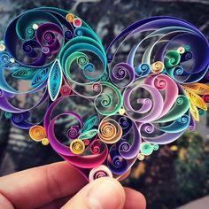紙をクルクルして作る繊細で装飾的なペーパークイリングアート (5)                              …
