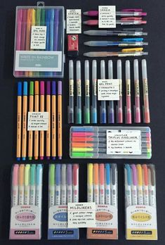 "studeying: "" ""a pic of (most) of my stationery + a short pro and con, taken … - Studying Tips - 2019 Stationary Supplies, Stationary School, Art Supplies, School Stationery, School Suplies, Study Organization, Cute School Supplies, Pretty Notes, Cute Stationery"