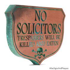 Eating Solicitors Sign Shield – Copper Verdi