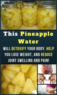 This Pineapple Water Will Detoxify Your Body, Help You Lose Weight, And Reduce Joint Swelling And Pain! - Healthy Food detox drinks This Pineapple Water Will Detoxify Your Body, Help You Lose Weight, And Reduce Joint Swelling And Pain Healthy Detox, Healthy Drinks, Healthy Tips, Healthy Choices, Healthy Recipes, Healthy Weight, Easy Detox, Healthy Water, Eat Healthy