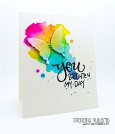 You Brighten My Day #card by Francine Vuilleme #papercrafts #cardmaking