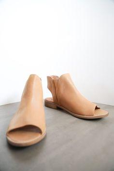 The Spring Sierra Pull On Sandal in Caramel