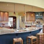 Awesome Blue Kitchen Island - Kitchen Renovations by ALH Home Renovations #KansasCity