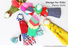 Design for Kids: How to Make a Doll Simple, no-sew dolls. I'm planning to make even smaller for SWAPs.