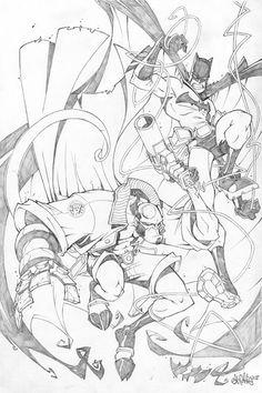 Skottie Young - Batman and Hellboy