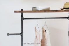 Kleiderstange Vintage Garderobe Industry von stahlrohr-art auf DaWanda.com