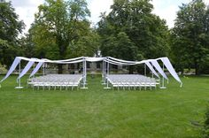 Ceremony Decor at Cranbrook  #pipeanddrape #fabricdrape #weddingdecor #ceremony #ceremonyspace #allwhite #whiteonwihte #outdoorwedding #MichiganWeddings #ColonialEvents