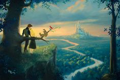Walt Disney movie art Sleeping Beauty by Rob Kaz Art - official website