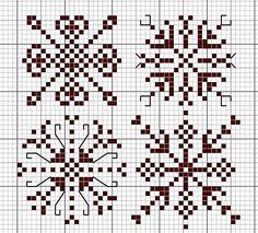 Снежинки вышивка крестом схемы и узоры