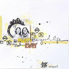 nsp  défi challenge scrapbuttons Happy day