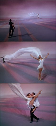 Again, Cyd Charisse and Gene Kelly in a beautiful balllet in the last musical piece in Singin' in the Rain 1953