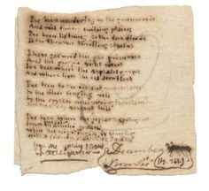 The Fascinating, Handwritten Poems of Famous Authors