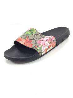469707e5e8c1 X59 Gucci GG Blooms Supreme Ebony Multicolor Slide Sandals Women s Size 41  M  fashion