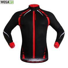 WOSAWE Winter Warm Fleece Fitness Excercise Running Cycling Jacket Outdoor Sports Bike Bicycle Wind Coat Long Sleeve Jersey