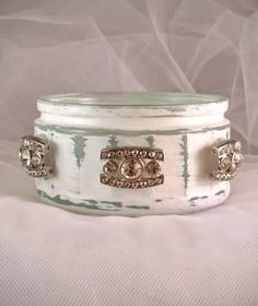 Candle Holder White Wedding Candle Table Decoration Diamante Garden Light Tealight Holder Ramekin Small Glass Gift Idea Ramekin Trinket Pot by LouLaBelleG on Etsy