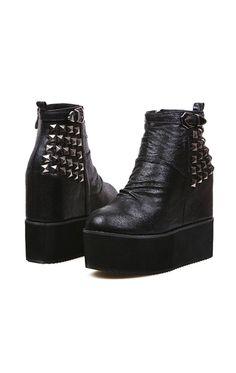 Eliza Studded Platform Boots