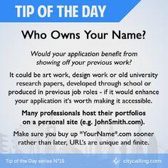 If Your .com Is Taken Try .me #TipOfTheDay #job #jobs #jobinterview #work  #jobhunting #jobinterview #interview #jobapplication #newjob #inspiration  ...